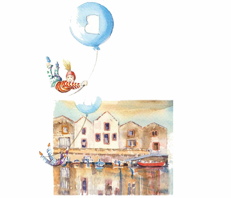 Illustrazione Concerie Bosa - B&B Blu Bosa